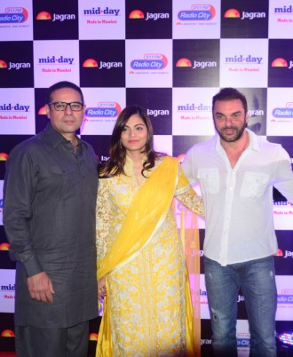 Atul Agnihotri , Alvira Agnihotri and Sohail Khan at party hosted by Jagran publication