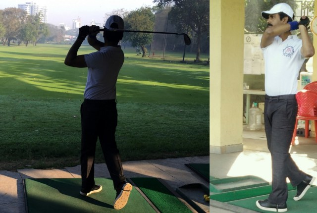 Nawazuddin playing Golf