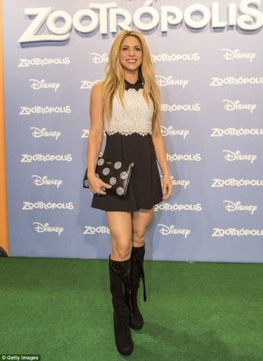 zootropolis-barcelona-premiere Shakira