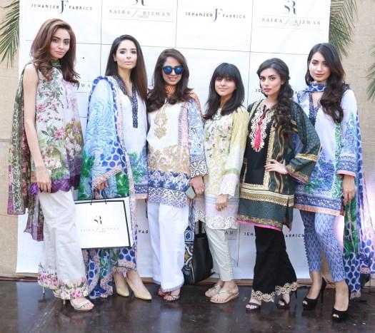 Farwa, Sahar, Saira, Foha, Zara and Rubab all wearing Saira Rizwan Spring Lawn 2016