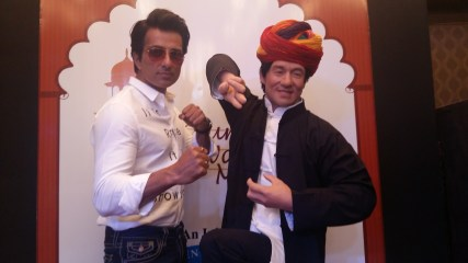 JACKIE CHAN WAX FIGURE UNVEILED BY ACTOR SONU SOOD