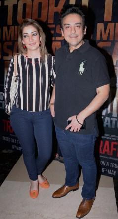 Adnan Sami with his wife