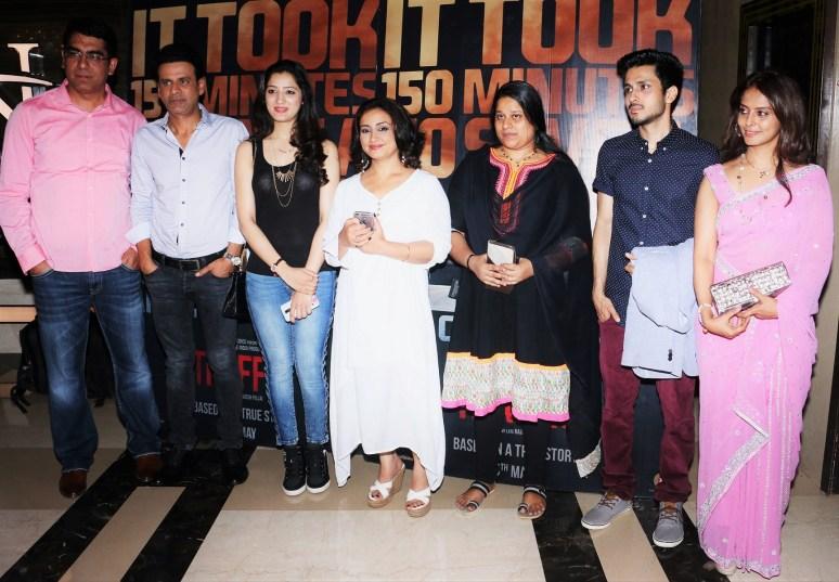(l-r) Deepak Dhar, MD & CEO, Endemol Shine India, Manoj Bajpayee, Richa Panai, Divya Dutta, Mrs Megha Pillai, Amol Parashar