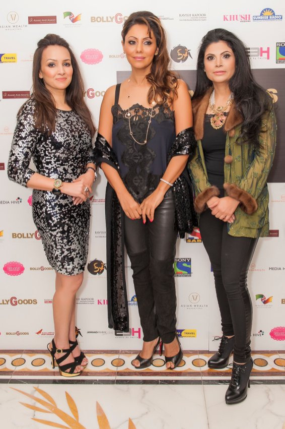 Promila Jain Bahri, Gauri Khan, Shivani Ahluwalia at BollyGoods Edition 2, London (photographer credit - Shahid Malik)