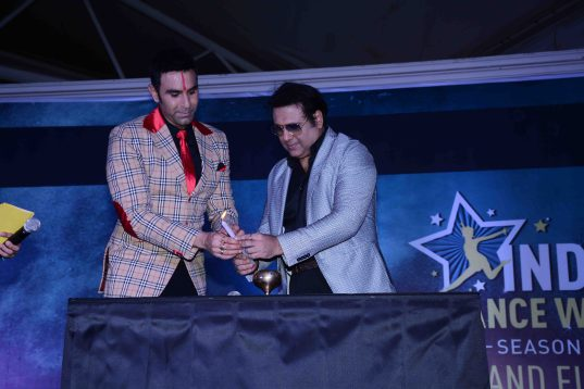 Sandip Soparrkar with Govinda