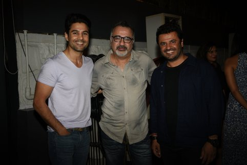 Rajeev Khandelwal, Ajay Chabbria and Vikas Bahl at the Fever party