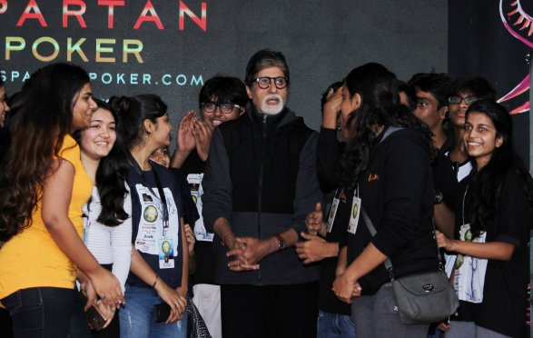 Amitabh bachchan with students