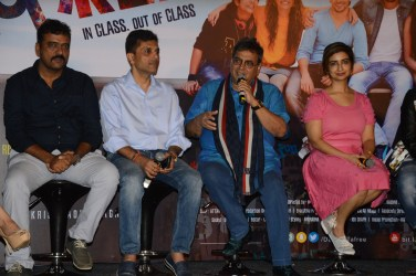 Director Krishnadev Yagnik, Producer Anand Pandit and Rashmi Shama, Cheif Guest Subhash Ghai