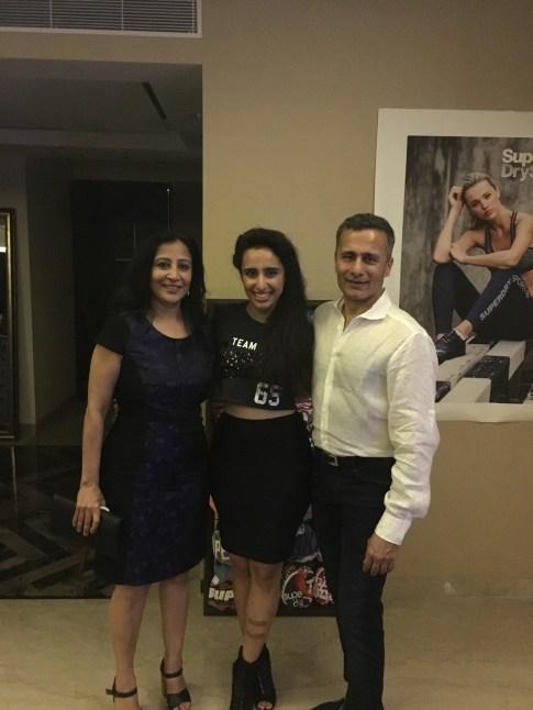 Namrata Purohit with her parents