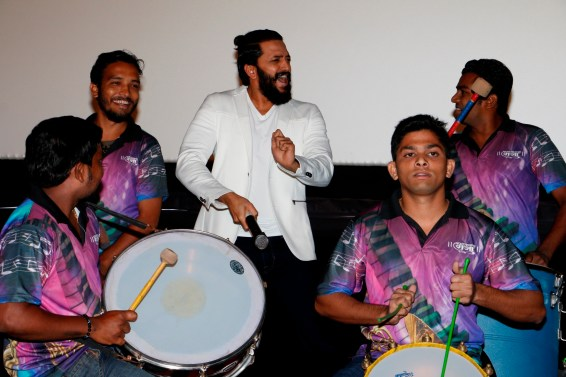 Riteish Deshmukh enjoying the performance of the live Banjo band during trailer launch of Banjo