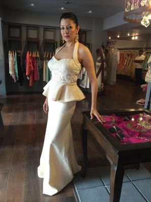 07 Aditi Govitrikar @ Amy Billimoria House of Designer & Zevadhi Jewels Festive Collection launch soiree