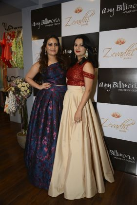12 Meenakshi Joshi & Komal Ashtekar Hazare @ Amy Billimoria House of Designer & Zevadhi Jewels Festive Collection launch soiree