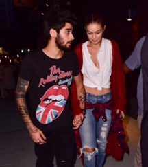 NEW YORK, NY - SEPTEMBER 10: Zayn Malik and Gigi Hadid seen on the streets of Manhattan on September 10, 2016 in New York City. (Photo by James Devaney/GC Images)