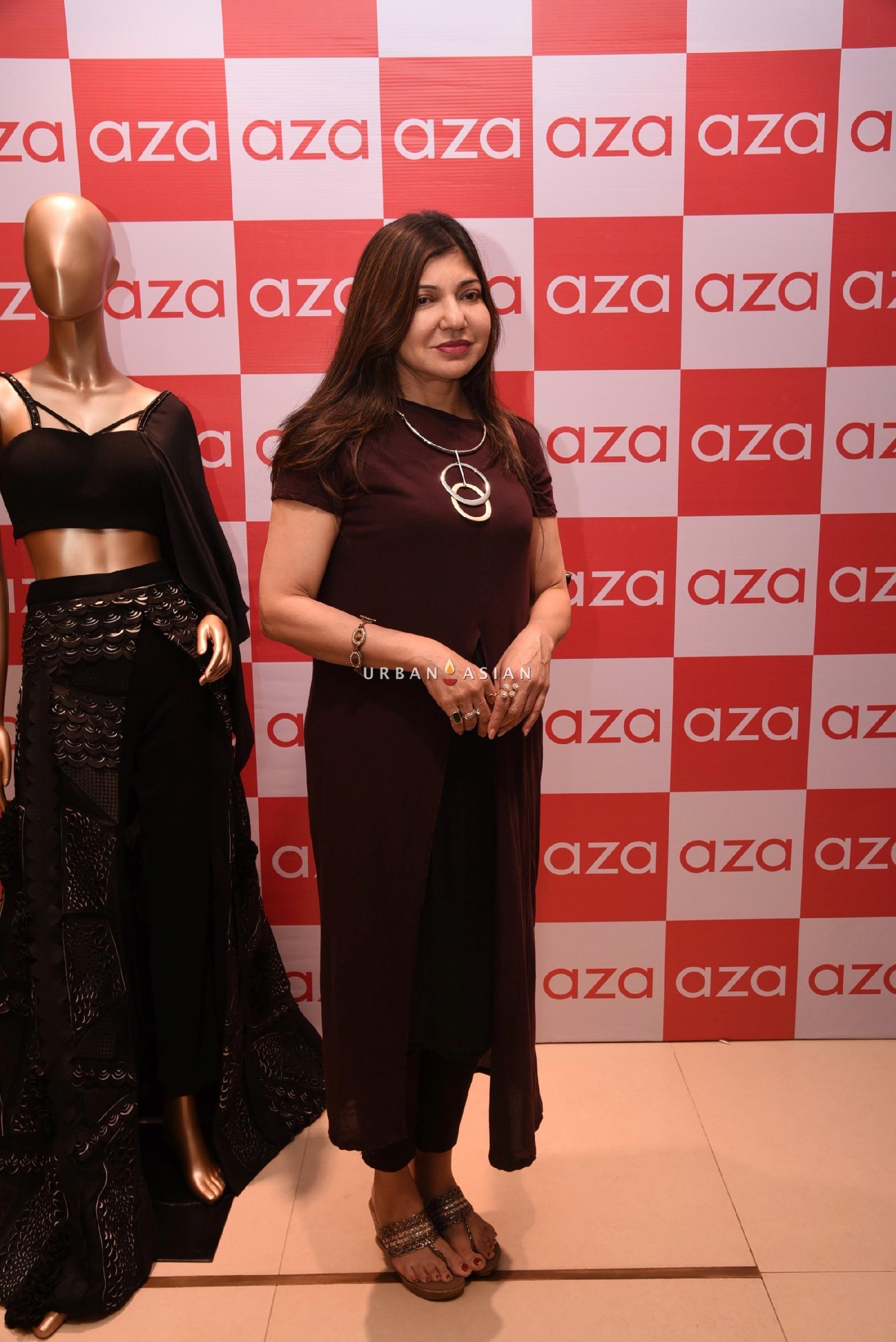 alka-yagnik-eshaa-amiins-new-party-wear-launch-at-aza