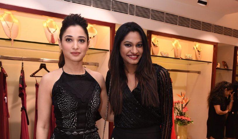 tamannah-bhatia-with-eshaa-amiin-eshaa-amiins-new-party-wear-launch-at-aza