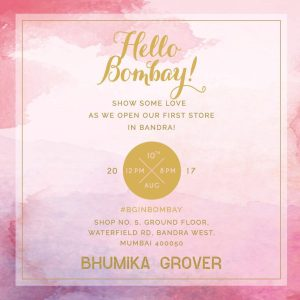 Designer Bhumika Grover To Launch Her First Outlet In Mumbai Urban Asian