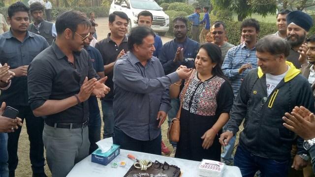 Ajay Devgn along with Kumar Mangat Pathak and Neelam Pathak