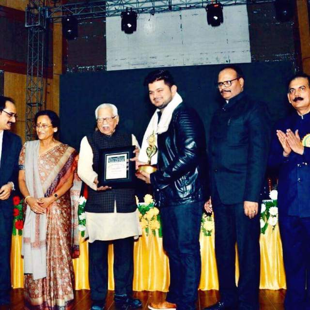 Vishal Mishra Received Marvellous Achiever Of The Year Award By Governor Of Uttar Pradesh