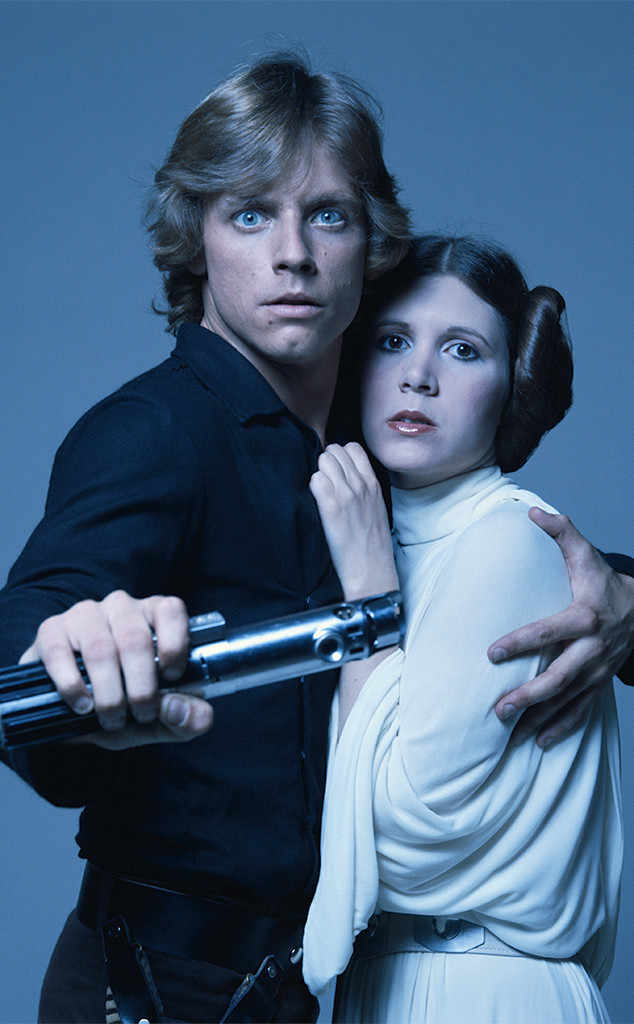 Mark Hamill and Carrie Fisher in Star Wars