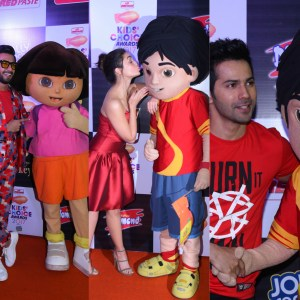 Ranveer Singh, Alia Bhatt and Varun Dhawan at Nickelodeon Kids Choice Awards 2017
