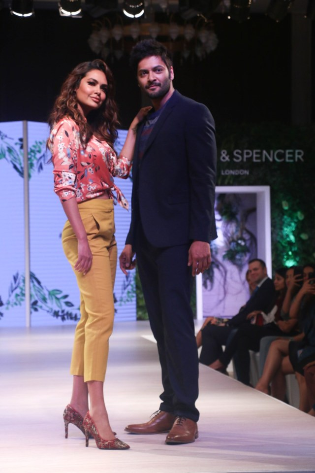 Ali Fazal and Esha Gupta At Mark And Spencer Spring Summer Collection Launch