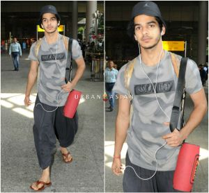 Ishaan Khatter snapped at the airport