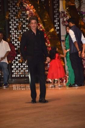 Shah Rukh Khan at Akash Ambani And Shloka Mehta Engagement party