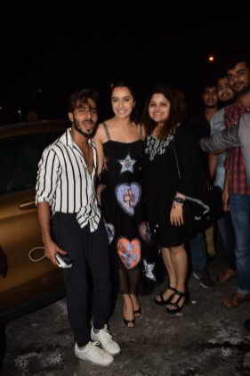 Shraddha Kapoor with fans at Stree wrap up party