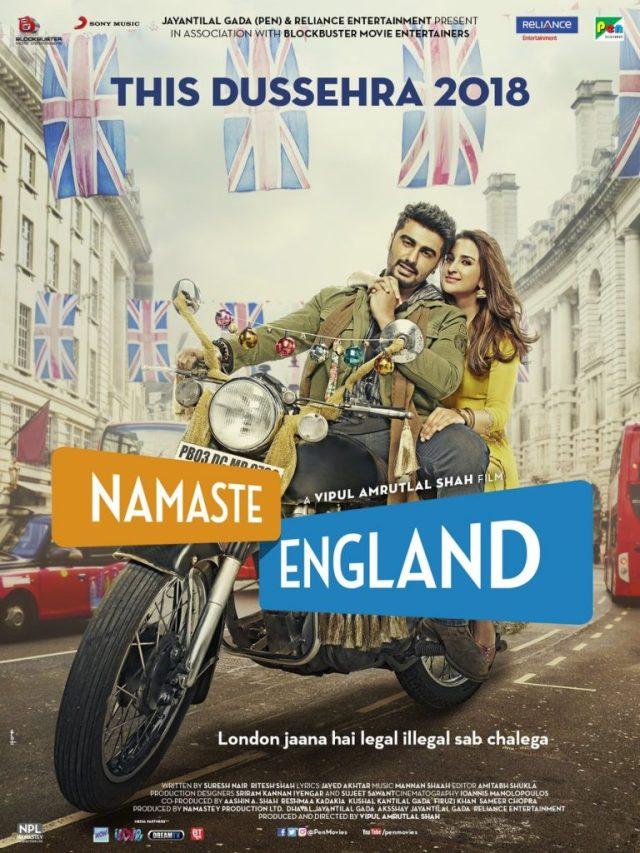 Arjun Kapoor and Parineeti Chopra on the poster of Namaste England