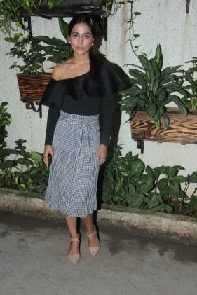 Hina Khan at Incredibles 2 screening