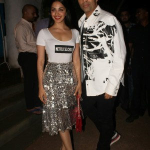 Karan Johar and Kiara Advani at Lust Stories Success Bash