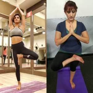 Shakti Mohan And Jyoti Singh on International Yoga Day