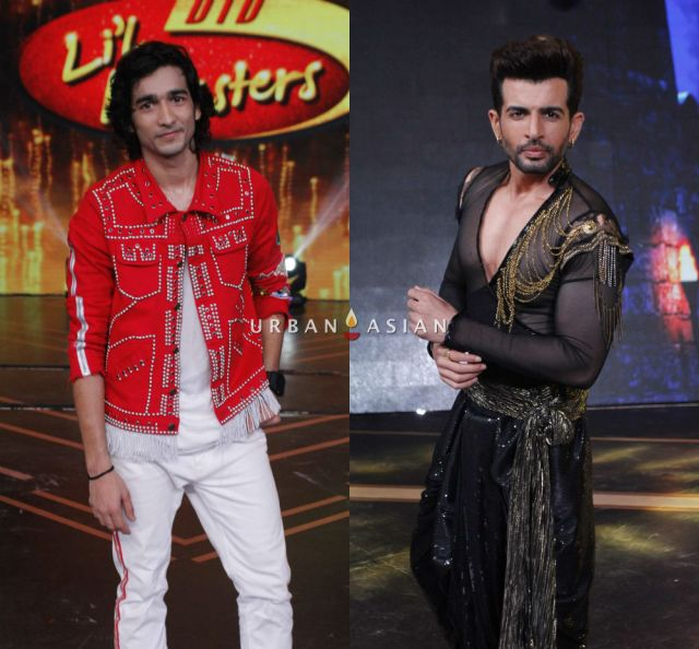 Shantanu Maheshwari and Jay Bhanushalil on the sets of DID L'il Master 2018