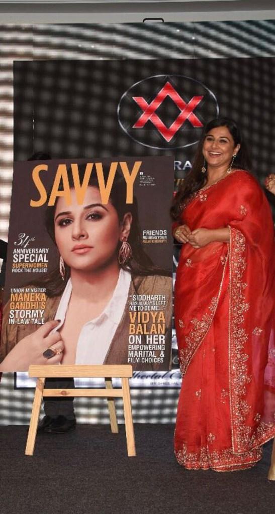 Vidya Balan at the Savvy Women Empowerment Awards 2018