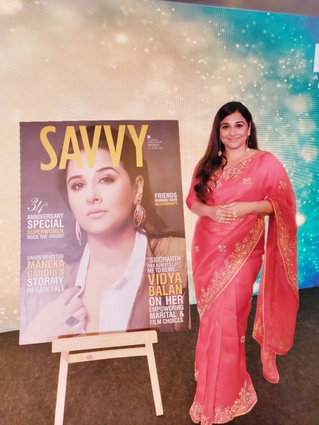 Vidya Balan graces the cover of Savvy Magazine
