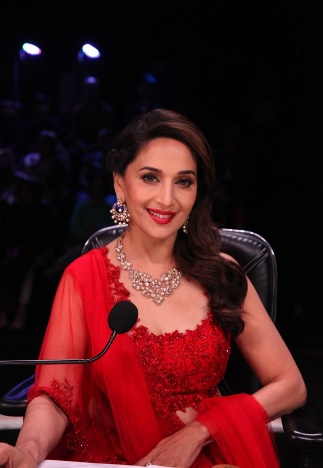 Madhuri Dixit on the set of Dance Deewane