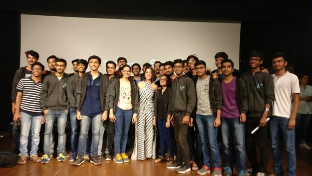 Yami Gautam with the students at IIT Powai (2)