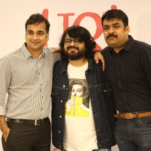Niraj Sanghai, Business Head at Prime Focus, Pritam Chakraborty, Founder of Jam8 and music composer-director, Vijay Subramanium, CEO at Kwan