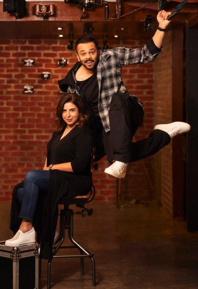 Rohit Shetty and Farah Khan