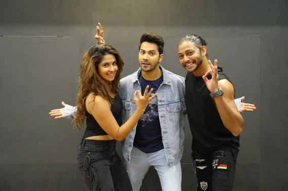 Melvin Louis and Harleen Sethi collaboration with Varun Dhawan on the song first class from Kalank