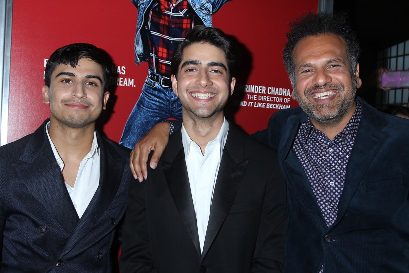 """- Asbury Park , NJ 8/7/19 - The Premiere of New Line Cinemas """"Blinded By The Light"""" . -Pictured: Aaron Phagura,Viveik Kaira, Safraz Manzoor -Photo by: Dave Allocca/StarPix -Location: Paramount Theatre"""