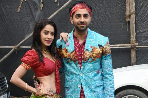 Ayushmann Khurrana and Nushrat Bharucha in Dream Girl