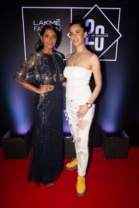 Pic 10- Models Candice Pinto and Sucheta Sharma James at Lakmé Fashion Week 20 years' celebration