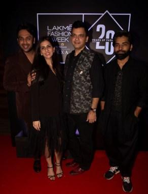 Pic 8- Designers Nikhil Thampi, Nishka Lulla, Nachiket Barve, Nikhil Thampi and Ujjawal Dubey at Lakmé Fashion Week 20 years' celebration - Copy