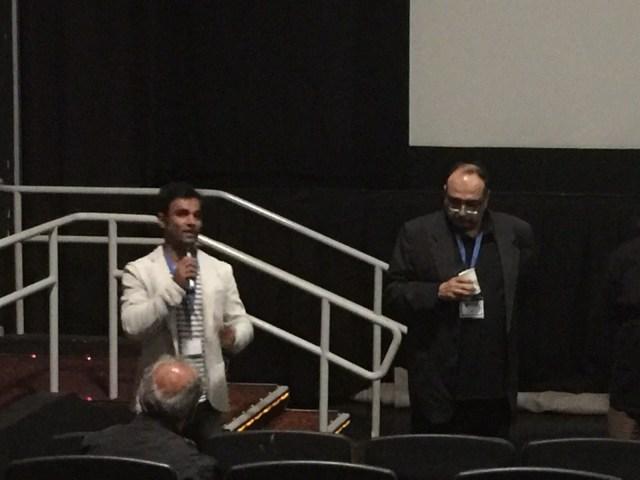 Punit Ruparel speaking at DC South Asian Film Festival in 2015
