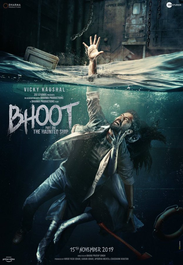 Vicky Kaushal on the poster of Bhoot - Part One The Haunted Ship