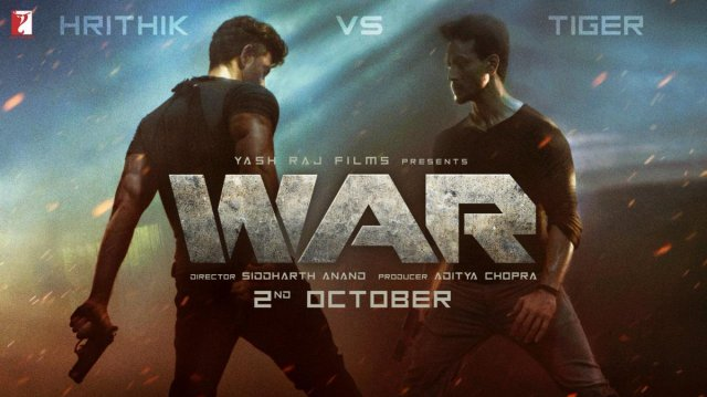 Hrithik Roshan and Tiger Shroff on the poster of WAR