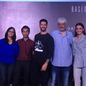Vikram Bhatt and demonologists at the press conference of Ghost