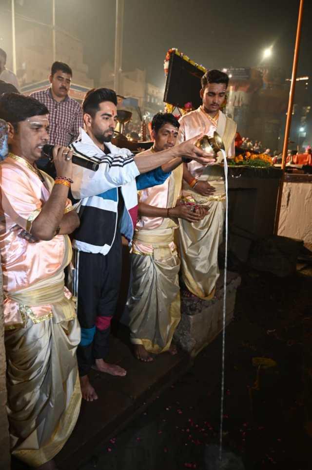 Ayushmann Khurrana at Varanasi