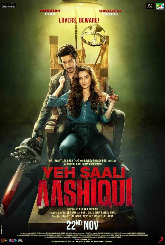 Vardhan Puri and Shivaleeka Oberoi on the poster of Yeh Saali Aashiqui